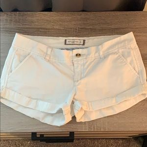 Abercrombie and Fitch white chinos